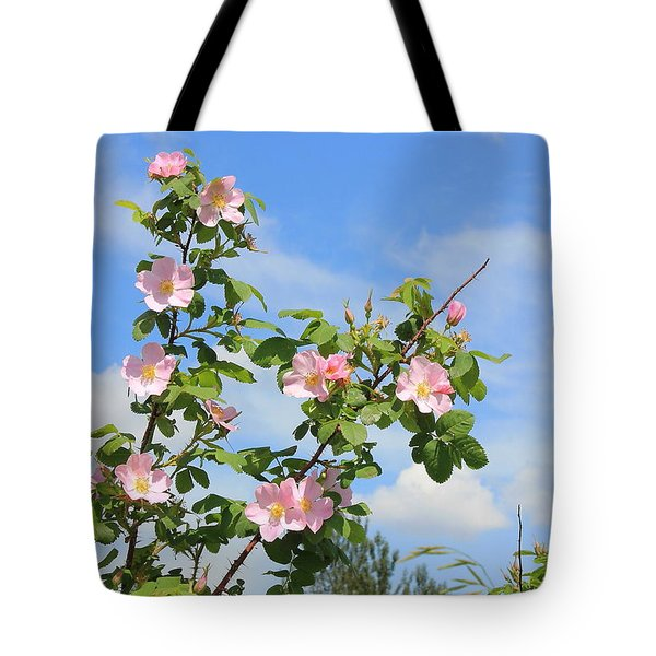Wild Roses In June Tote Bag