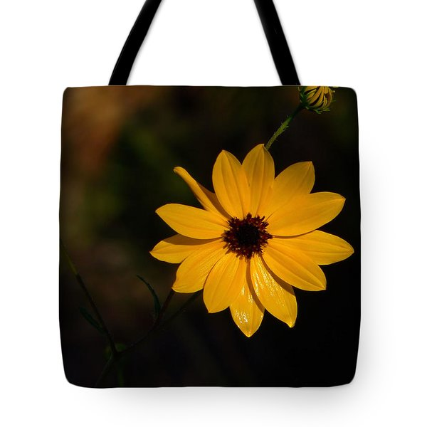 Tote Bag featuring the photograph Wild Sunflower by Rosalie Scanlon