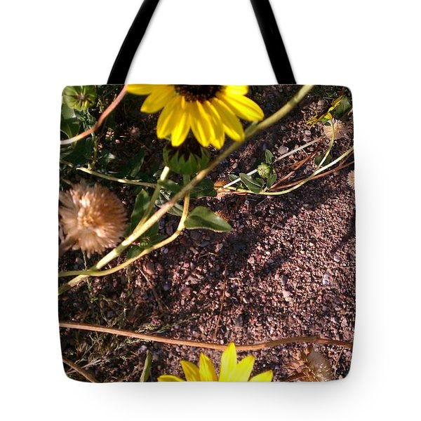 Tote Bag featuring the photograph Wild Sunflowers by Fortunate Findings Shirley Dickerson