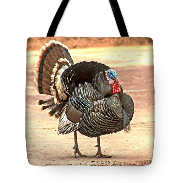Wild Tom Turkey Tote Bag by Robert Bales