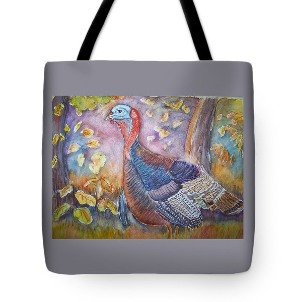 Wild Turkey In The Brush Tote Bag by Belinda Lawson