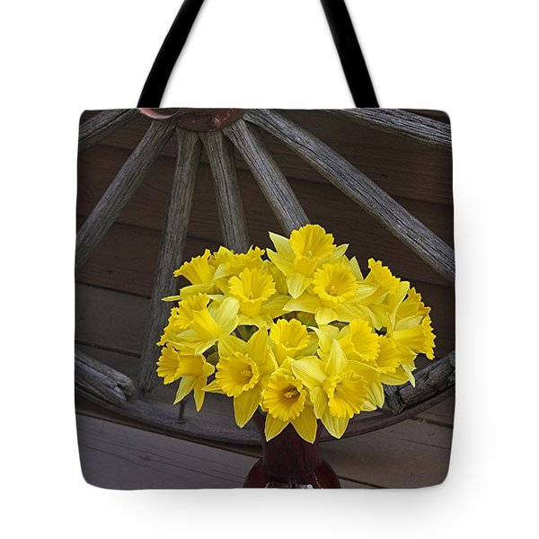 Wild West Daffodils Tote Bag by Diane Alexander