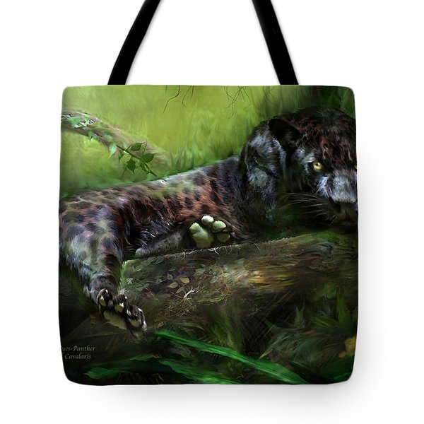 Wildeyes - Panther Tote Bag by Carol Cavalaris