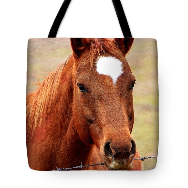 Wildfire - Equine Portrait Tote Bag