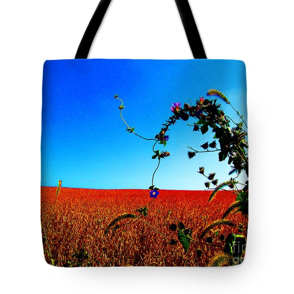 Wildflower And Soy Tote Bag by Tina M Wenger
