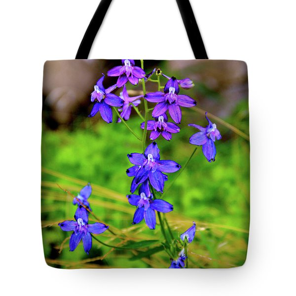 Wildflower Larkspur Tote Bag