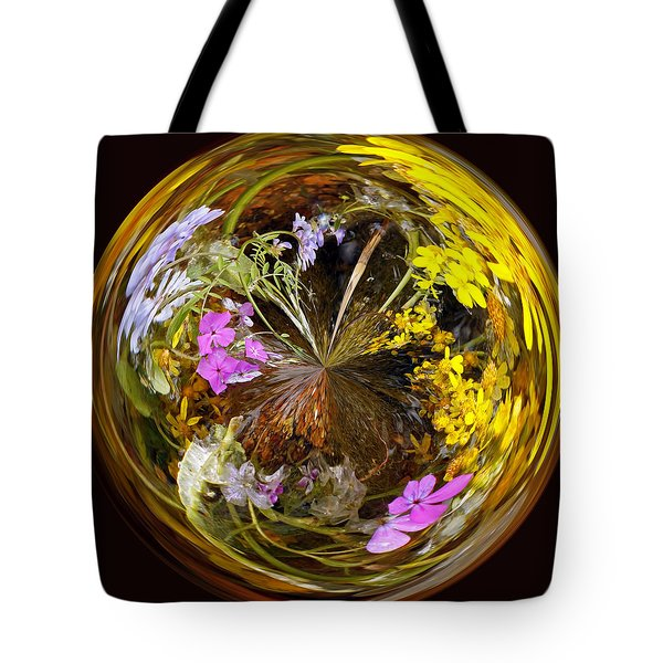 Tote Bag featuring the photograph Wildflower Paperweight by Gary Holmes
