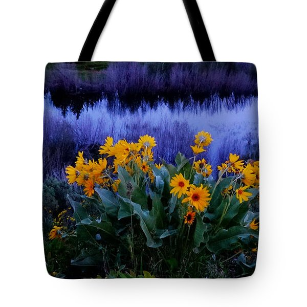 Wildflower Reflection Tote Bag by Dan Sproul