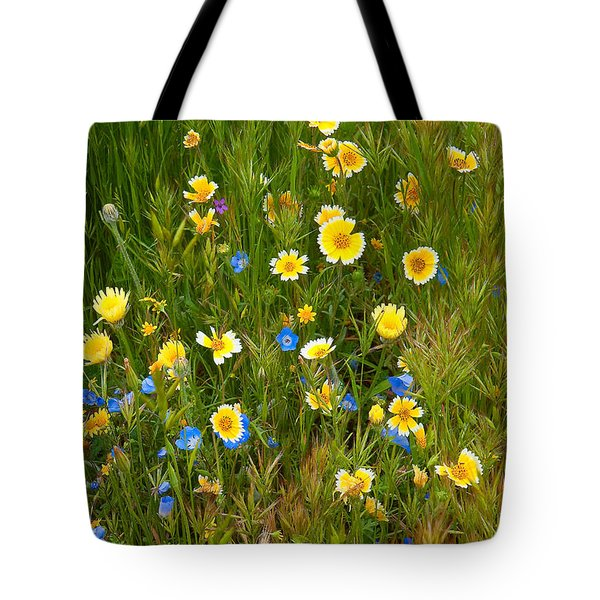 Wildflower Salad - Spring In Central California Tote Bag
