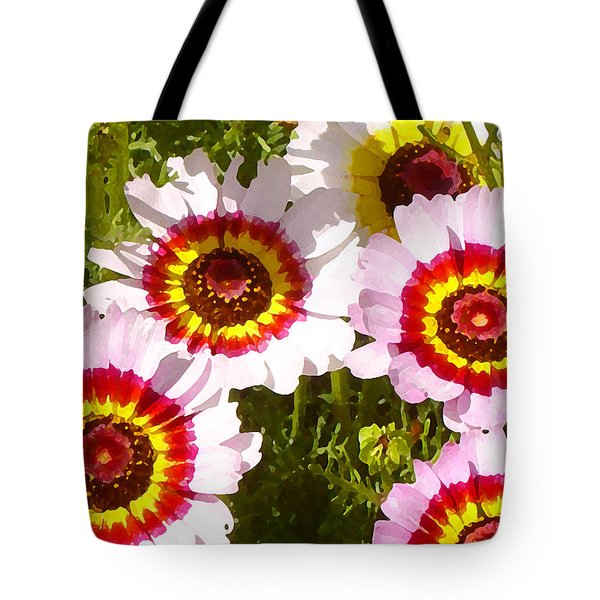 Wildflowerd Wide 1 Tote Bag by Amy Vangsgard