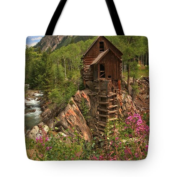 Wildflowers Along The Crystal Tote Bag by Adam Jewell