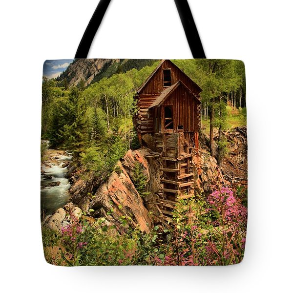 Wildflowers And Clouds Tote Bag by Adam Jewell