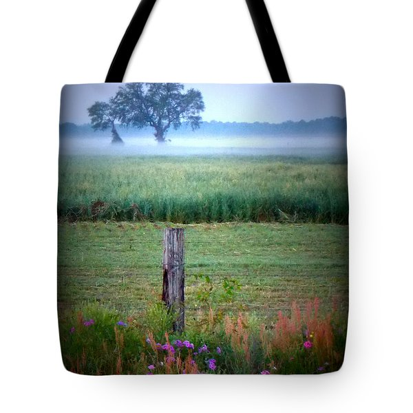 Wildflowers And Fog Tote Bag