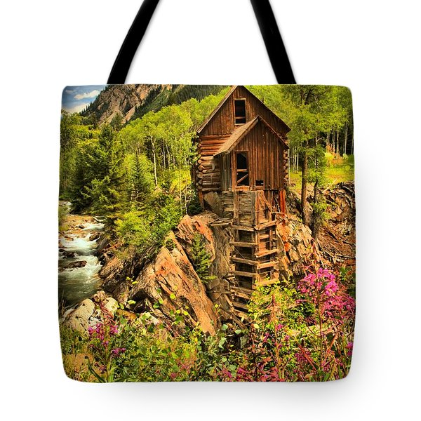 Wildflowers At Crystal Tote Bag by Adam Jewell