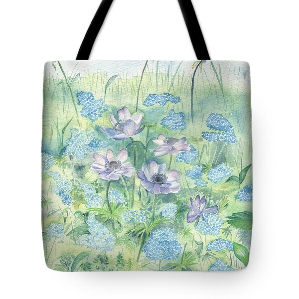 Tote Bag featuring the painting Wildflowers by Elizabeth Lock