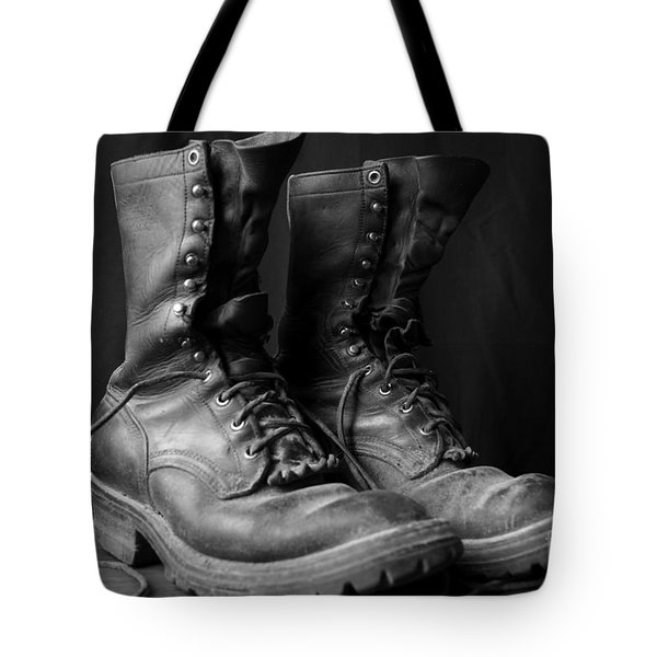 Wildland Fire Boots Still Life Tote Bag