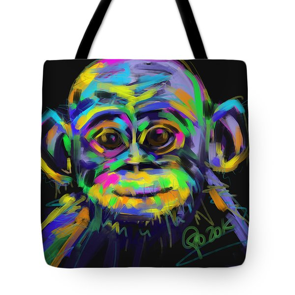 Wildlife Baby Chimp Tote Bag