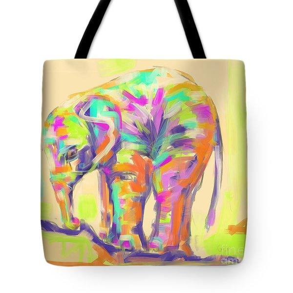 Wildlife Baby Elephant Tote Bag
