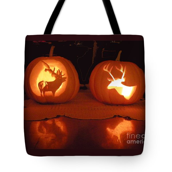 Wildlife Halloween Pumpkin Carving Tote Bag