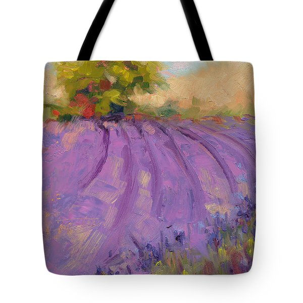 Wildrain Lavender Farm Tote Bag