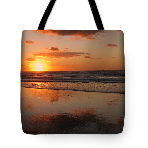 Wildwood Beach Sunrise Tote Bag by David Dehner