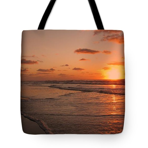 Wildwood Beach Sunrise II Tote Bag by David Dehner