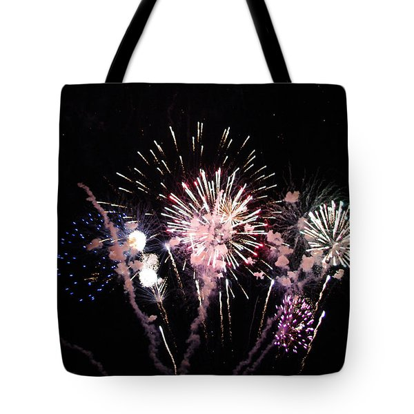 Tote Bag featuring the photograph Wildwood Fireworks by Greg Graham
