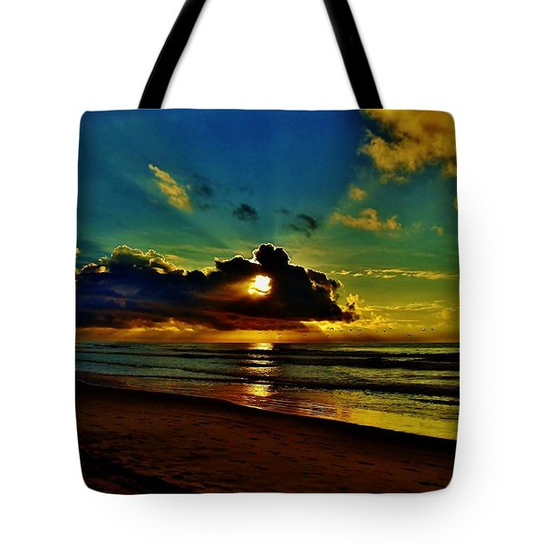 Tote Bag featuring the photograph Wildwood Sunrise by Ed Sweeney