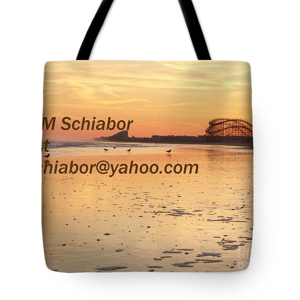 Wildwood Sunset Tote Bag by Eric  Schiabor