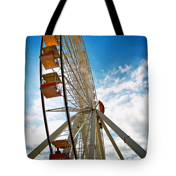 Wildwood's Wheel Tote Bag by Mark Miller