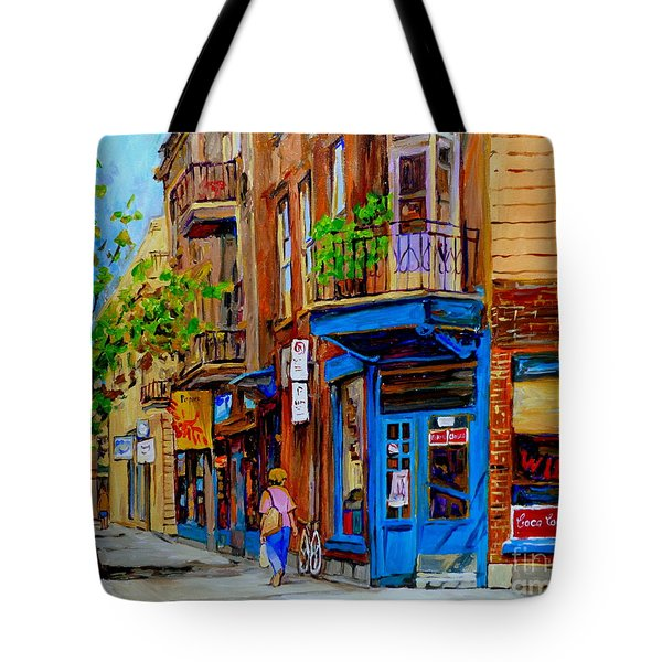 Wilensky's Diner And Snack Bar Tote Bag by Carole Spandau