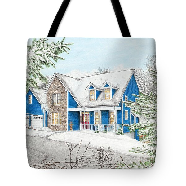 Tote Bag featuring the painting Wiley House by Albert Puskaric