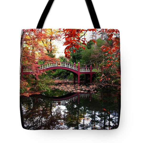 William And Mary College  Crim Dell Bridge Tote Bag by Jacqueline M Lewis