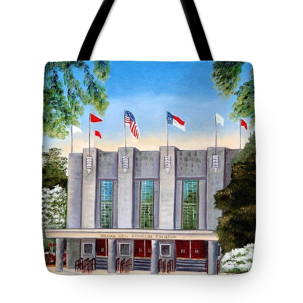 Tote Bag featuring the painting William Neal Reynolds Coliseum by Shelia Kempf