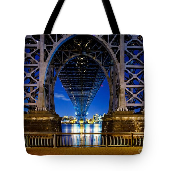 Blue Punch Tote Bag