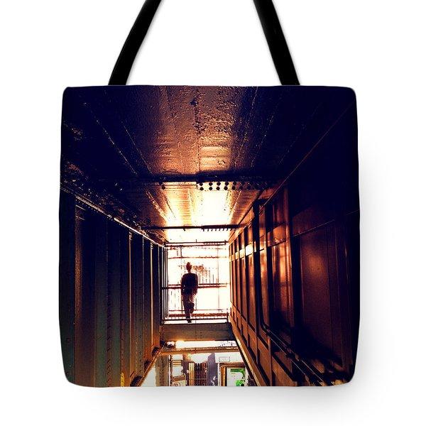 Williamsburg - Brooklyn - Hewes Street Overpass Tote Bag by Vivienne Gucwa