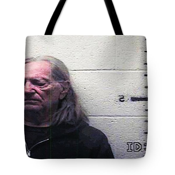 Willie Nelson Mugshot Tote Bag by Bill Cannon