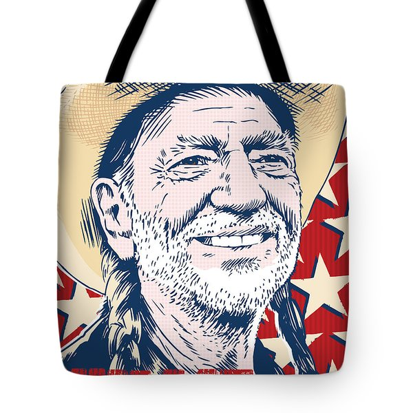 Willie Nelson Pop Art Tote Bag