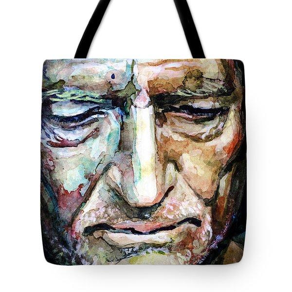Willie Nelson  Portrait Tote Bag by Laur Iduc