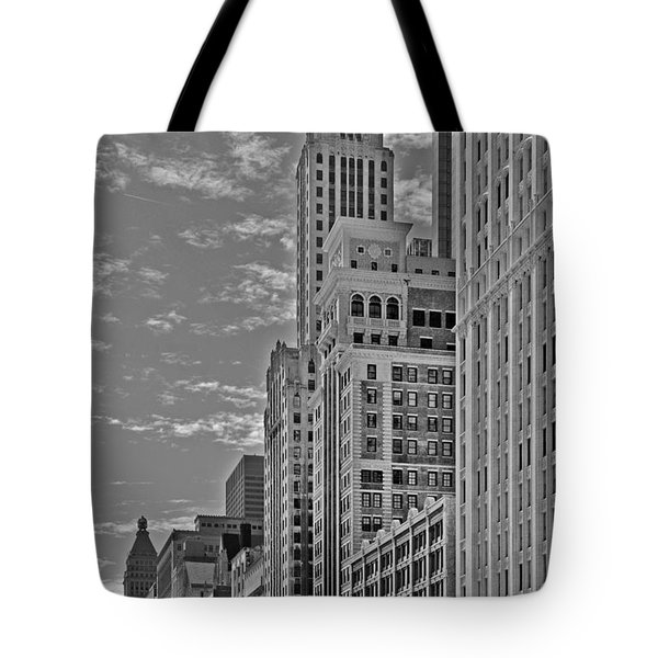Willoughby Tower And 6 N Michigan Avenue Chicago  Tote Bag by Christine Till