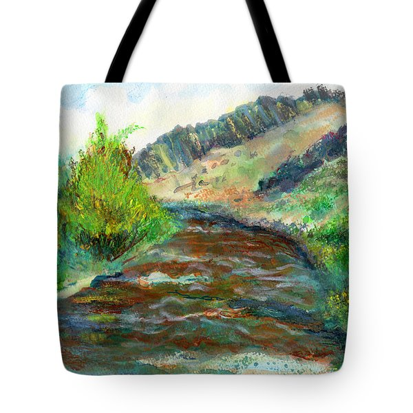 Willow Creek In Spring Tote Bag