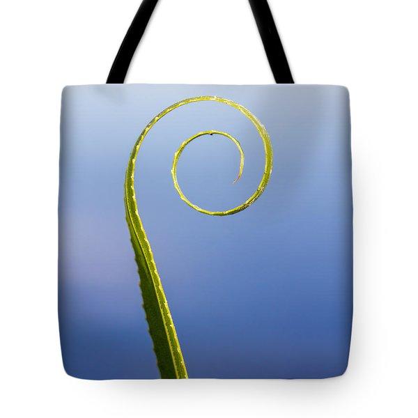 Willow Leaf Spiral Tote Bag