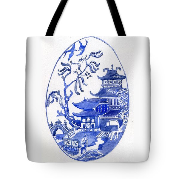 Willow Pattern Egg I Tote Bag