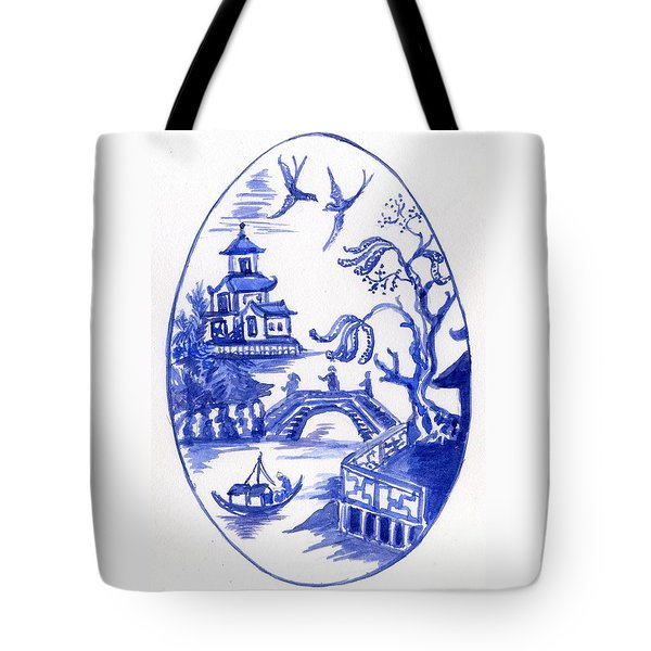 Willow Pattern Egg II Tote Bag