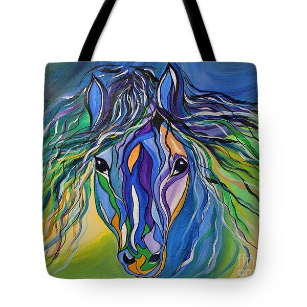 Willow The War Horse Tote Bag by Janice Rae Pariza