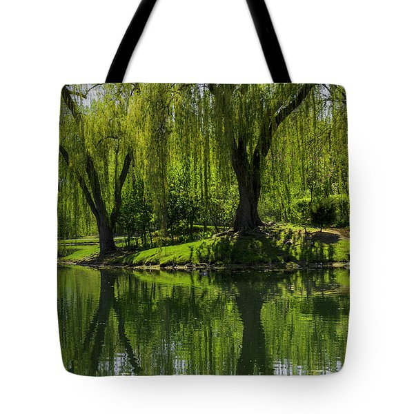 Willows Weep Into Their Reflection  Tote Bag