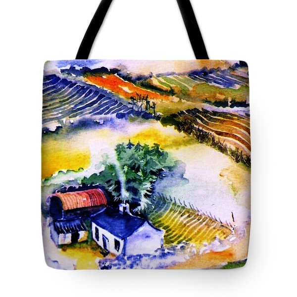 Tote Bag featuring the painting Wills House On Eagle Hill  by Trudi Doyle