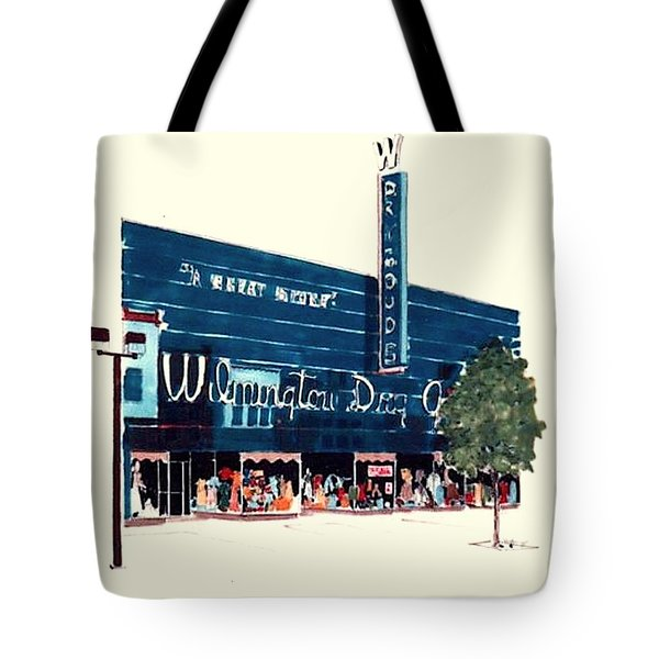 Tote Bag featuring the painting Wilmington Dry Goods by William Renzulli