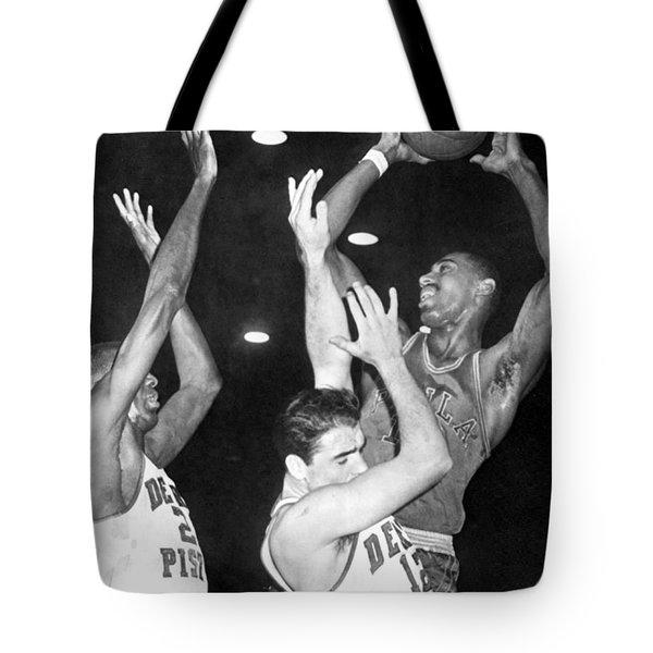 Wilt Chamberlain Shoots Tote Bag