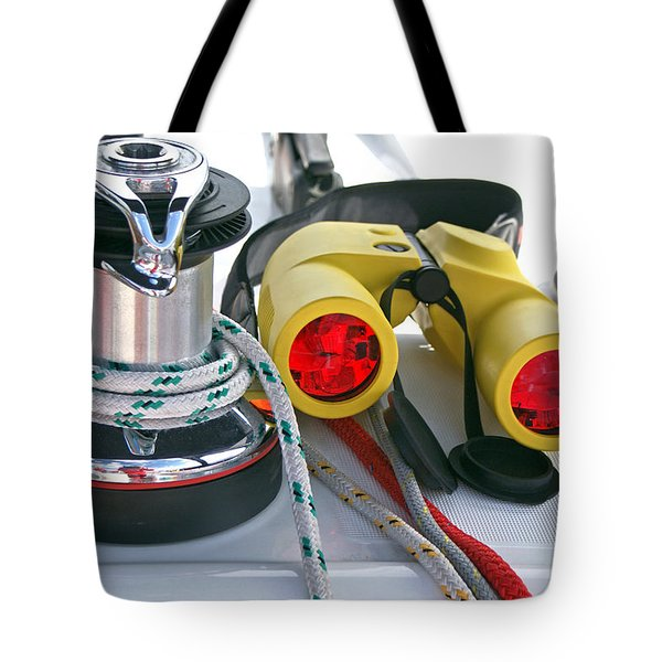 Winch And Binoculars Tote Bag by Gary Eason